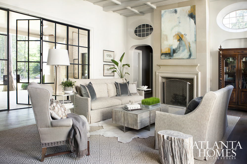 Sherry hart designs atlanta interior designer for Living room atlanta